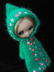 Emerald fluff and pink stars