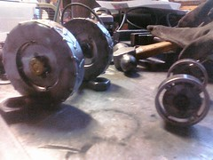 Tractor wheels progress.