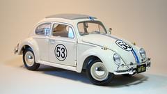 Volkswagen Beetle (Fusca) '63 Herbie (jeffgarage) Tags: vw volkswagen beetle herbie 1963 118 fusca diecast kafer johnnylightning diecaster jeffgarage