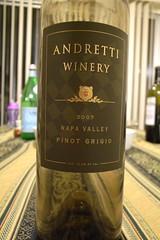 2007 Andretti Winery Napa Valley Pinot Grigio
