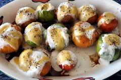 Filled pomodoro caprese (smashz) Tags: tomato foam basil pomodoro mozzarella caprese vinagrette