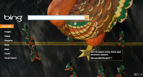 Bing Thanksgiving Logo
