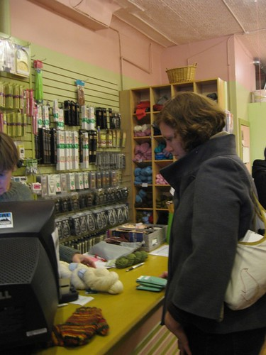 Buying Peace Fleece at Knit Wit