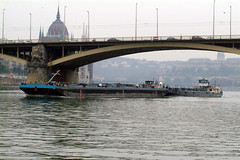 DSCF1009 Budapest  Hungary The River Danube. Its 19th-century Chain Bridge connects the hilly Buda district with flat Pest. A funicular runs up Castle Hill to Budas Old Town where the Budapest History Museum traces city life from Roman times onward (photographer695) Tags: budapest hungary the river danube its 19thcentury chain bridge connects hilly buda district with flat pest a funicular runs up castle hill budas old town where history museum traces city life from roman times onward