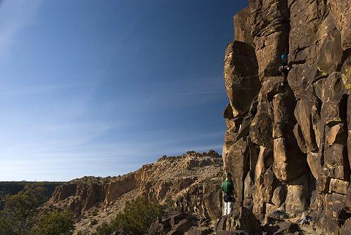 Climbing Desert Basalt