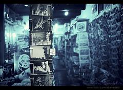 souvenir shop () Tags: italy rome roma window andy shop shopping book store italia dof bokeh andrea postcard perspective libro andrew bookstore finestra libri souvenir negozio vetrina f28 libreria benedetti cartoline nikond90