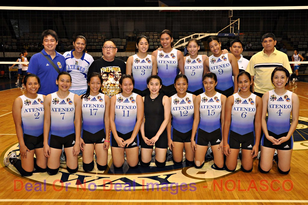 women's volleyball team and coaching staff for UAAP Season 72