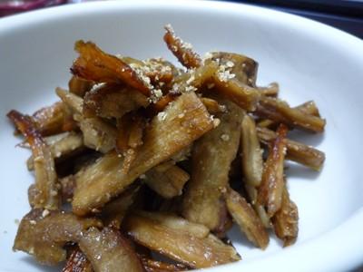 たたきごぼうの炒め煮
