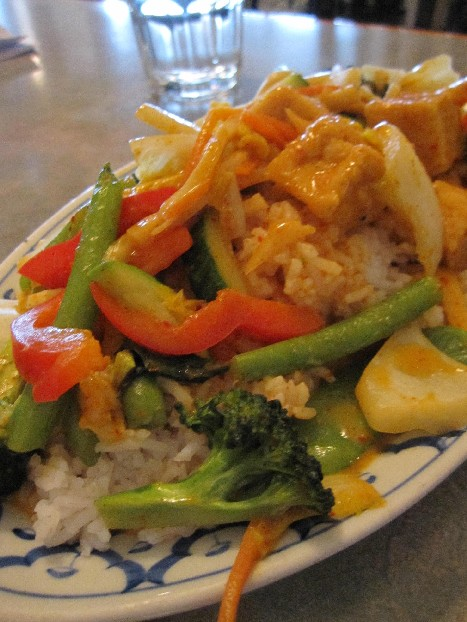 Khang Phet Vegetable Over Steamed Rice