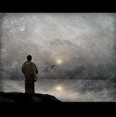 Stillness - B2 (h.koppdelaney) Tags: world life light art digital photoshop self gold peace state symbol buddha space monk buddhism philosophy virtue inner patient harmony mind inside meditation awareness metaphor stillness cosmic consciousness psyche patience symbolism psychology selbst archetype oneness tugend humbleness transduality gewahrsein graphicmaster selbstbeobachtung