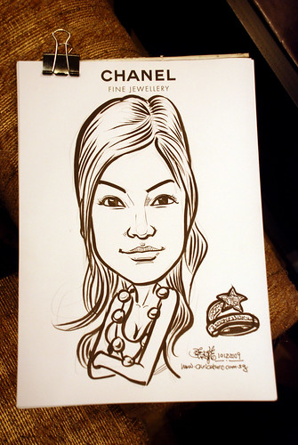 Caricature live sketching for Chanel Day 1 - 7