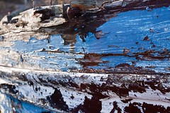 Peeling Boat Painting 3 (mcgoo2006 (www.ciaranmchugh.com)) Tags: old ireland galway boats paint pots connemara lobster flaking roundstone