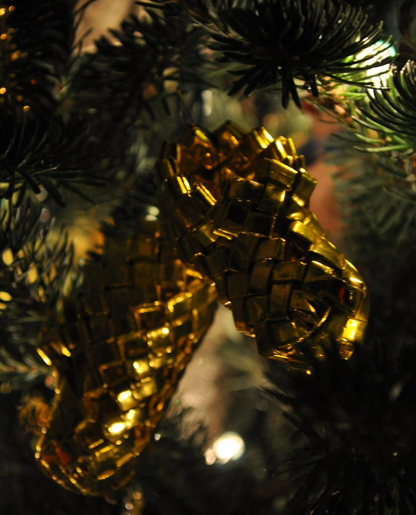 Ornament - Gold Booties