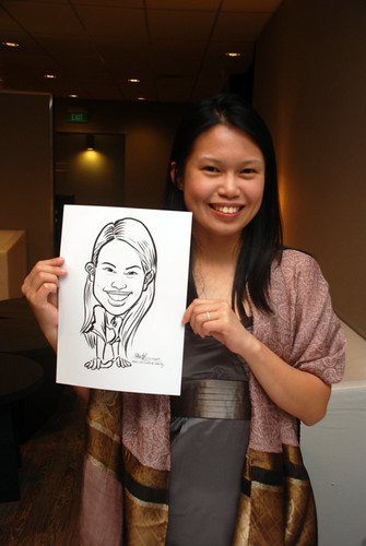 Caricature live sketching for Lonza - 6