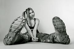 In Altama boots (LikClick Photography) Tags: portrait white me girl canon studio photography military camouflage soe studiophotography altama supershot униформа blackwhitephotos ботинки милитари flickrdiamond камуфляж берцы широкоугольник blackandwhitegirlportrait likclick альтама usaarmyboots