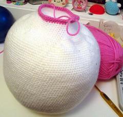 W.I.P (3) (EssHaych) Tags: pink white japan giant japanese big doll crochet wip plush softie plushie amigurumi kokeshi stuffie masive uper