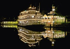 Reflections of Liberty (Don Sullivan) Tags: reflection lowlight riverboat waltdisneyworld magickingdom ef2470mmf28lusm libertysquare libertybelle canoneos5dmarkii