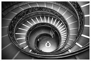 Vatican Museum shop, double helix staircase