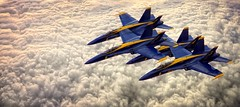 Blue Angles High Flying~ (JMR Visuals) Tags: airplane army fighter power aircraft military smoke airplanes navy jet superior trail mcchord thunderbirds bomber aerobatics afb might afterburner aeorobatics