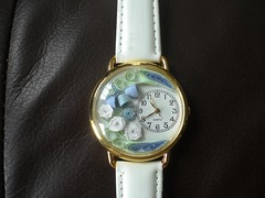 Blue quilled watch (Gregelope) Tags: flowers beautiful gold handmade jewellery craftsmanship papercraft quilling craftwork flowerpicturesnolimits