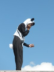 On Cloud Nine (pammymay) Tags: london panda trafalgarsquare plinth gormley antonygormley fourthplinth oneandother