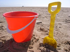R0017928 (Grey Hamster) Tags: uk england beach bucket sand lancashire 100 ricoh caplio stannes spade gx gx100 ashowoff