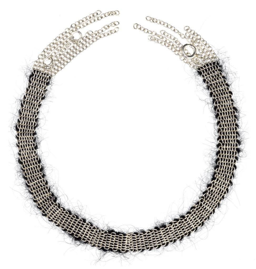 Stephanie Schneider chain mohair necklace