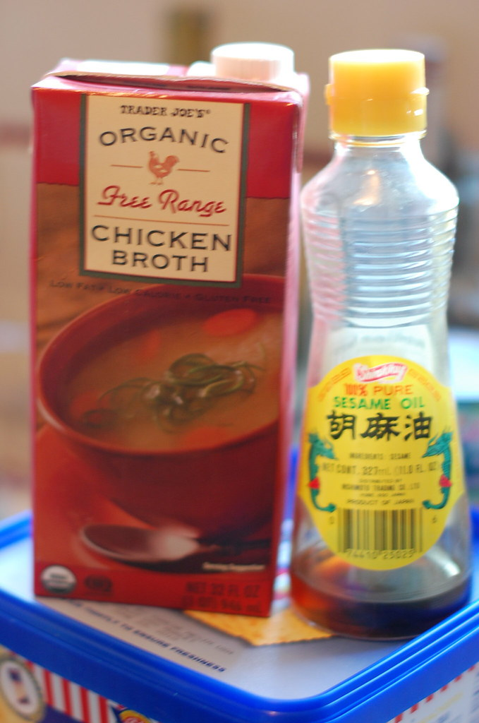 Chicken Broth and Sesame Oil