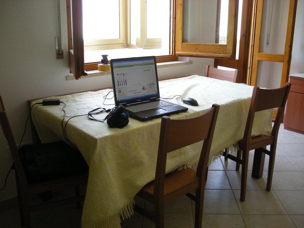 Il tavolo del soggiorno