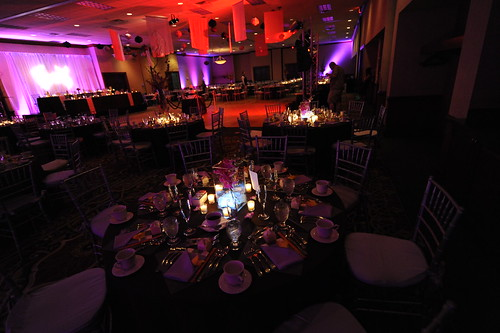 The beautiful wedding reception room