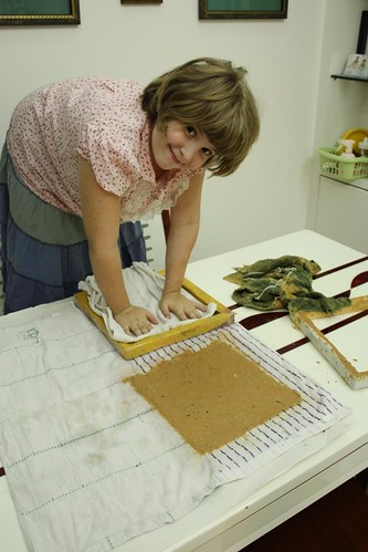 homemade paper patting