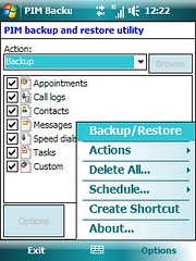 PIM Backup - Options