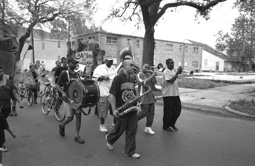 Lewis Watts, March Against Gentrification, Treme, NOLA