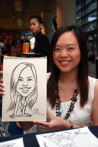 Caricature live sketching for SMC Teachers'Day D&D 2009 - 4