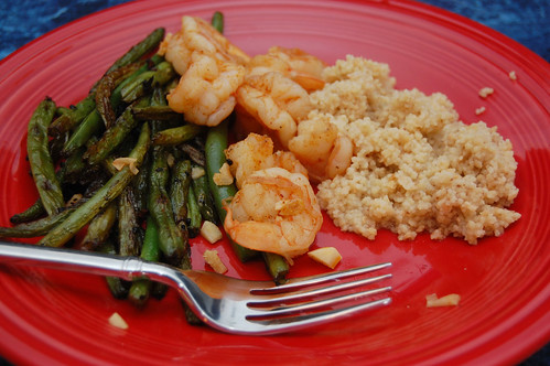drunken shrimp and szechuan green beans