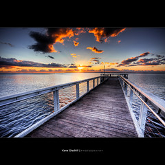 My Ray Machine ([ Kane ]) Tags: morning sky sun clouds sunrise dawn pier australia brisbane qld 5d rays kane hdr wellingtonpoint gledhill kanegledhill wwwhumanhabitscomau kanegledhillphotography