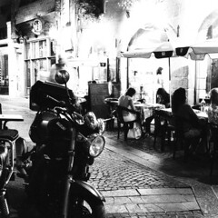 Nantes (Peter Gutierrez) Tags: street city light shadow people urban bw white black france streets film blanco night contrast dark square french lights evening noche gallo la photo brittany europe noir european shadows nocturnal nacht pavement negro bretagne pedestrian atlantic peter nighttime pedestrians gutierrez zwart wit loire nuit blanc nocturne notte franais nantes breton contrasty pieton shadowy atlantique gallois pietons gallic franaise naoned erdre swart naunnt sevre nantaise nantais petergutierrez