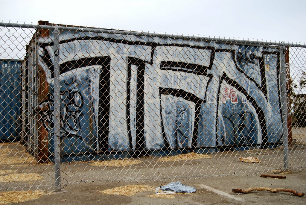 TFN Crew Graffiti Throw Up - Albany, CA.