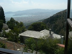 front view from hotel near portaria pelion