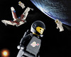 I can see my house from up here! (hoho0482) Tags: starwars lego space earthrise weightless macromondays