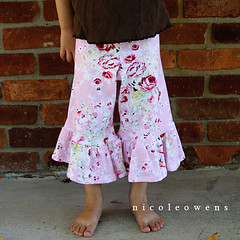 fold over ruffle pants