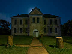 The Elmdale School (Noel Kerns) Tags: school abandoned night kansas elmdale