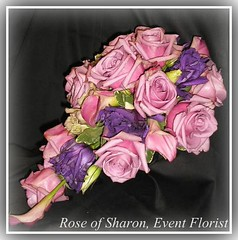 Teadrop - Lavender & purple roses, calla lilies & lisianthus #2~
