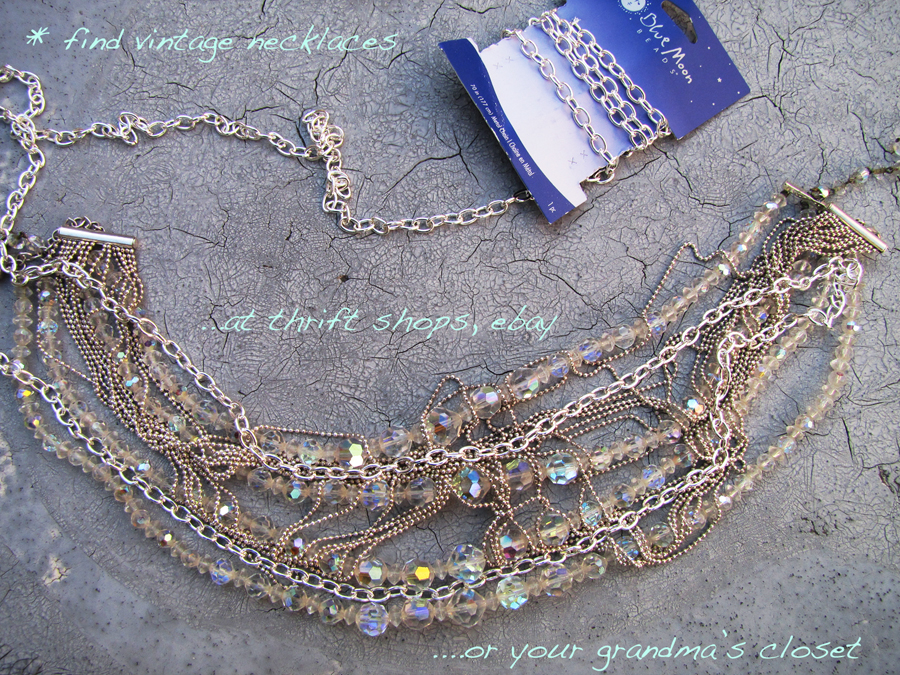 DIY-Tom-Binns-rhinestone-chains-pearl-chunky-choker-collar-necklace-2