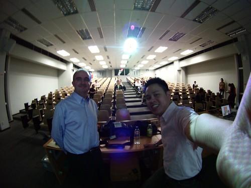 John Larkin & me @ NTU