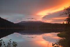 Under attack! (dedge555) Tags: lake reflection clouds sunrise trillium nikon mthood nikkor lenticular 30secondexposure trilliumlake 2470mm lenticularclouds d700 nikond700 2470mmf28g afsnikkor2470mmf28ged varinduo
