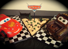 Cars cake by debbiedoescakes