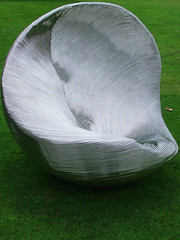 Thumbprint by Ron Arad (lurcherlad) Tags: sculpture chair stainlesssteel steel thumb chatsworth 2007 ronarad beyondlimits