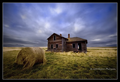 hay (heinz57sauce) Tags: old sky storm clouds southdakota farm homestead prairie hay ruraldecay d700