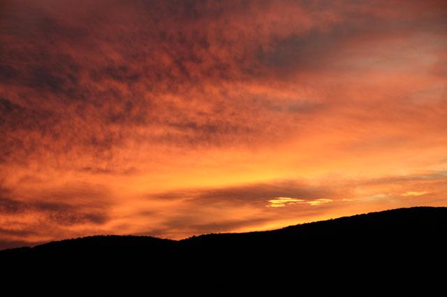 Sky on Fire, Shenandoah Skyline Drive